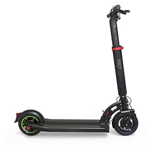 SXT Buddy V2 - kompakter Escooter mit nur 13,7 kg Gesamtgewicht, 650 W max. Farbe: schwarz