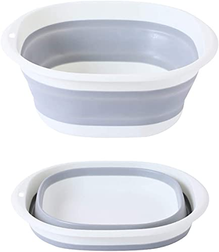 160oz Collapsible Washing Up Bowl Square with Handles Folding Hand Wash Basin Retractable Portable for Outdoor Travel Camping Hiking Caravan - Medium