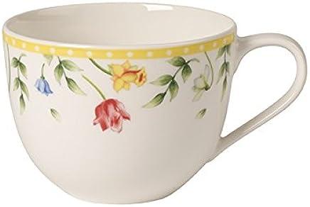 Preisvergleich für Villeroy & Boch Spring Awakening Kaffeetasse, 230 ml, Premium Porzellan, Gelb/Bunt