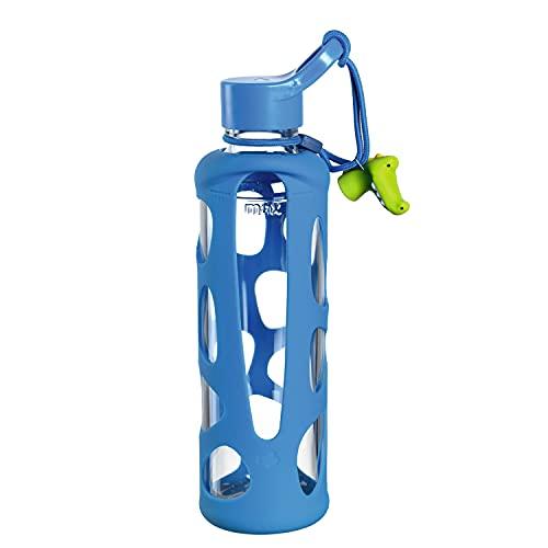 LEONARDO HOME Bambini 028832 Unisex Youth Drinking Bottle 500 ml Blue Crocodile 27.3 cm