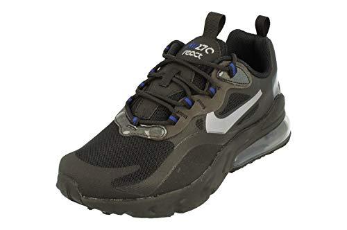 Nike Air Max 270 React GS Running Trainers CZ4209 Sneakers Scarpe (UK 4 US 4.5Y EU 36.5, Black Metallic Cool Grey 001)