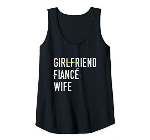 Womens Girlfriend, Fiance, Wife - Gay Pride Lesbian Wedding Tank Top