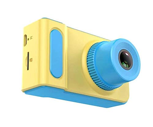 Kindercamera, digitale camera met 8 MP 1080p scherm, 2 inch scherm, 32G geheugenkaart kaartlezer, Kerstmis Nieuwjaar verjaardag festival speelgoed cadeau voor kinderen van 3-12 (blauw & Ge