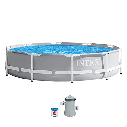 Intex 26702NP - Piscina desmontable redonda prism frame intex 305x76 cm con depuradora