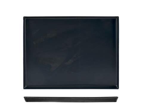 Pentole Agnelli COFE149B45 - Teglia rettangolare da forno per dolci e pizze, Lamiera Blu, 45 x 35 x 3 cm