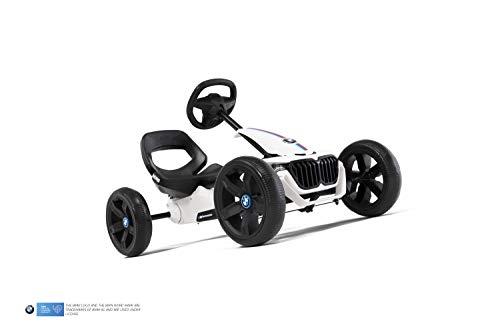 Berg Pedal Gokart Reppy BMW | Kinderfahrzeug, Tretauto mit Optimale Sicherheid, Soundbox im Lenkrad, Kinderspielzeug geeignet für Kinder im Alter von 2.5-6 Jahren