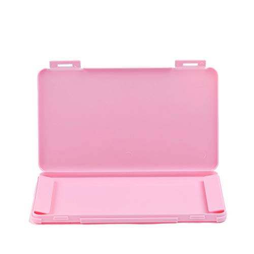 YIEBAI Estuche portátil Caja a Prueba de Humedad para el hogar Salir Soporte Organizador de contenedores de Almacenamiento a Prueba de Polvo,Pink One-Layer