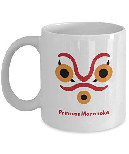 Regalos para los amantes del animé: 'Princesa Mononoke' - Princesa Mononoke, Anime, Manga, Hobby, Japón, Ver Anime - Taza de cerámica blanca