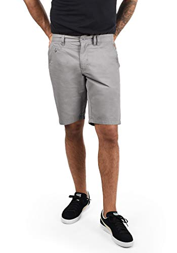 BLEND Sasuke Herren Chino Shorts kurze Hose, Größe:M;Farbe:Aluminium (70107)