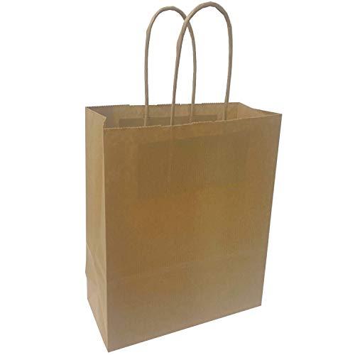 Thepaperbagstore Bolsas De Papel Marrones, Reciclables Y Reutilizables, con Asas Retorcidas - Elija Tamaño Y Cantidad (30, 180x220x80mm)