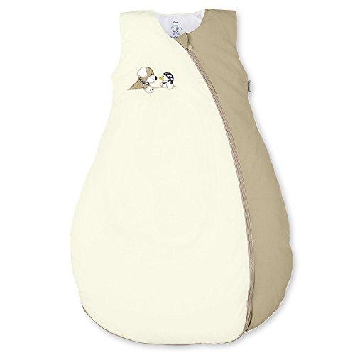 Sterntaler Schlafsack für Kleinkinder, Ganzjährig, Wärmeregulierung, Reißverschluss, Größe: 110, Hanno, Beige/Braun