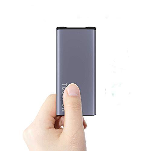 TOOSPON Externer Akku 10000mAh Powerbanks Mobiles Portable Ladegerät Die kann Nicht nur Ihr Handy Aufladen sondern sie ist auch kompatibel mit Spielkonsole (10000mAh Grau)
