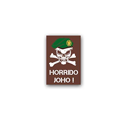Aufkleber/Sticker Jäger BW Barett Schädel Jägertruppe Horrido Joho 5x7cm A2909