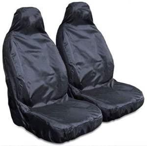 Heavy Duty Waterproof Front Pair Car Van Seat Covers Black Fronts