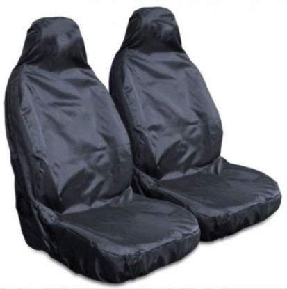 Red Black Look Pair Front Pair Car Seat Covers for Skoda Superb All Models