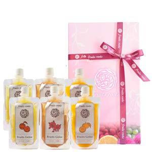 【ギフト】フルーツルーツ fruits roots フルーツジュレ アップル オレンジ ローズ 6個セット 国産 無添加 砂糖不使用 ゼリー