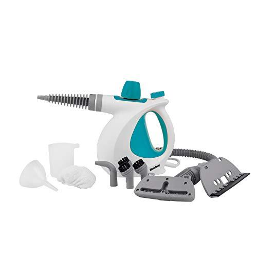 Beldray® BEL0701TQN 10-in-1 Dampfreiniger für Handheld, perfekt für Polster, Badfliesen, Spiegel & Fenster, 1000 W, Tötet Effektiv Hausbakterien, Türkis