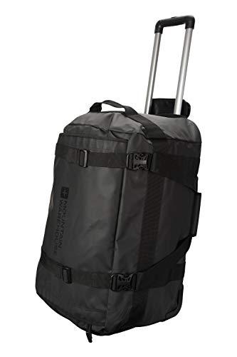 Mountain Warehouse Reisetasche mit Rollen - 60-Liter-Reisetasche, großer Tragegriff, Tragegurt, Innentasche, als Handgepäck - Für Reisen, Camping und Festivals, Frühling Schwarz Einheitsgröße
