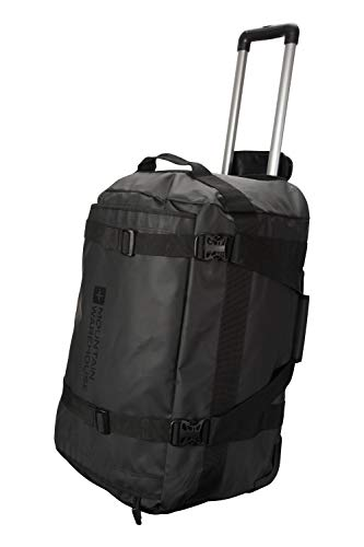 Mountain Warehouse Cargo Wheelie Bag -61cm(l) x35cm(h) x38cm(w), Inner Pocket, Grab Handles Cabin Bag Black