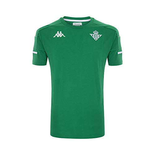 Kappa Ayba 4 Betis Camiseta, Hombre, Verde/Blanco, L