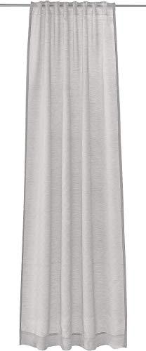 Joop! Living Vorhang mit verdecktem Schlaufenband Glare grau Einfarbig Uni