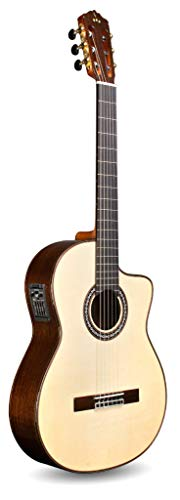 Cordoba GK Pro Negra Cutaway Flamenco, All Solid Woods, Acoustic-Electric Nylon String Guitar, Luthier Series, with Humidified Hardshell Case