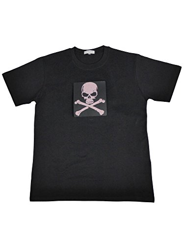 Ultimatives LED T-Shirt (Männer/Gr.L) mit EL Panel Motiv Piratenflagge