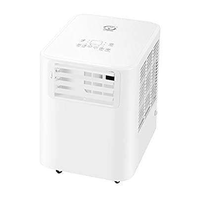 fam famgzizmo 9000BTU/2600W 4-in-1 Portable Air Conditioner(Cooling,fan,Dehumidifier,Intelligent Sleep Mode) with Remote Control and 3 Fan Speeds Options,24 Hour Programmable Timer for Home and Office