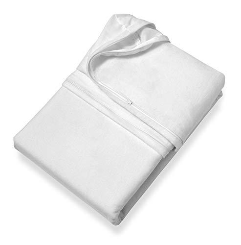 SETEX Antiallergen Matratzenvollschutzbezug, 140 x 200 cm, 100% Baumwolle, Weiß, Protect & Care, 14AG140200700002