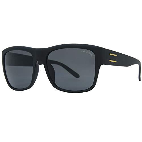 Óculos de sol, Duff, Cavalera, Retangular, Masculino, Preto, Único
