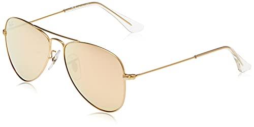 Ray-Ban 0rj9506s Gafas de Sol, Matte Gold, 50 Unisex-Niño