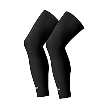 SONTHIN Compression Leg Sleeve for Men Women Youth Cycling Running Basketball Baseball Golf and More Outside Activities  Black,White,Red,Blue,Green,Pack of 2   Large Black