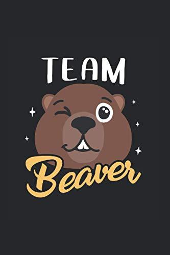 Team Beaver: Biber & Förster Notizbuch 6'x9' Holz Geschenk Für Waldarbeiter
