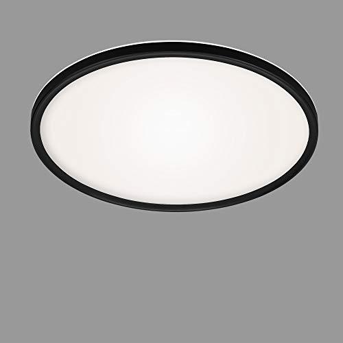 Briloner Leuchten - LED Panel, Deckenleuchte, Deckenlampe mit Hintergrundbeleuchtungseffekt, 22 Watt, 3000 Lumen, 4000 Kelvin, Weiß-Schwarz, Rund, Ø 42cm, 7157-415
