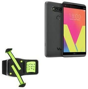 Holster for LG V20 (Holster by BoxWave) - FlexSport Armband, Adjustable Armband for Workout and Running for LG V20 - Stark Green