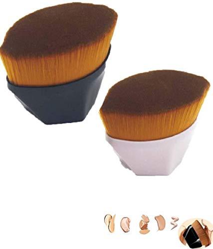 3 naadloze foundationborstels met hoge dichtheid BB cream makeup brush losse poeder brush (met beschermhoes)