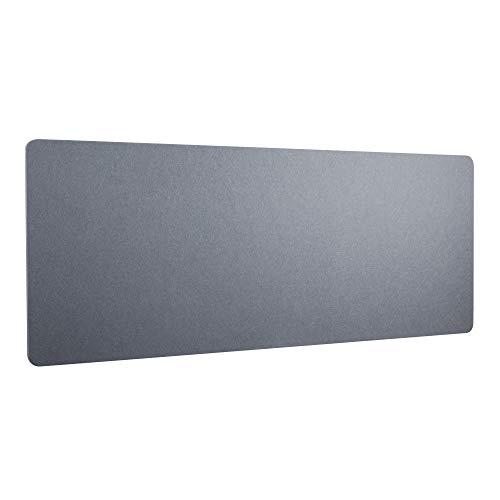 RICOO Akustik Trenn-Wand für Schreibtisch (ZAP1680-G) 160 x 80 x 2,3 cm Filz Grau Büro Home-Office Pinnwand Schall-und Sichtschutz