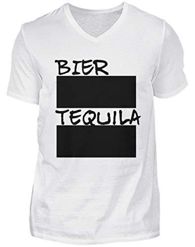 Bier en Tequila streeklijst voor feestjes incl. 12 krijt - beschrijfbaar met krijt - heren V-halsshirt