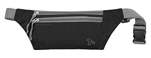 Travelon Double Zip Waist-Pack, Black, One Size