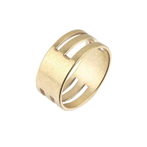 DDyna Brass Color Men Women Jump Ring Open & Close Tools Finger Rings DIY Earrings Handwork Tools Ring Jewelry Findings - Golden