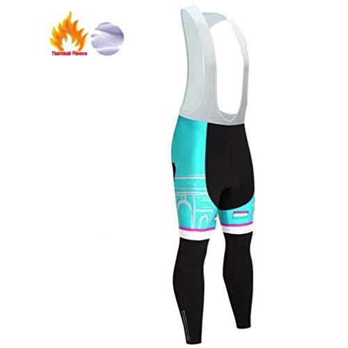 OLEEKA Winter Radfahren Athletic Hose Thermal Fleece Radhose Herren Fahrradbekleidung Fitness Sport mit 12D Gel Pad