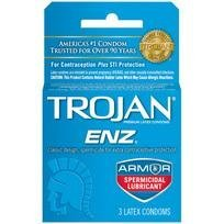 Trojan Enz w/ spermicide 1 - 3 pack (Package Of 7)