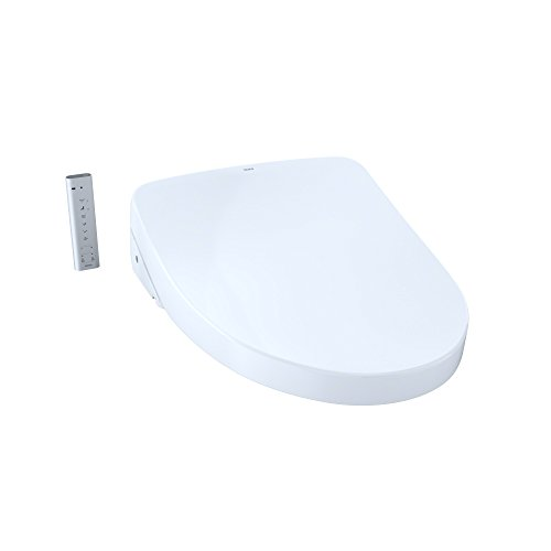 TOTO SW3056T40#01 S550e Elongated Bidet ewater+ and Auto Open and Close Contemporary Lid, White-SW3056T40 Toilet Washlet Seat, Cotton White