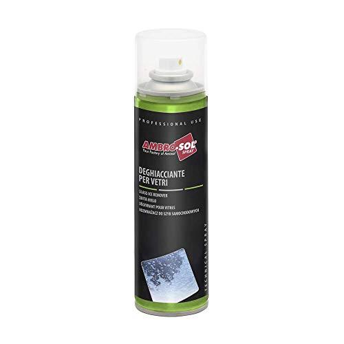 Ambro-Sol A455 Spray Deghiacciante per Vetri, Formato 250 ml, trasparente