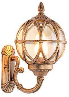 Beautiful Home Decoration lamps buitenwandlamp, brons, ijzer, lampenkap buitenshuis tijdens de glazen bol waterdicht E27 tuinlamp
