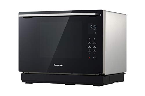 Panasonic NN-CF87LBBPQ 3-IN-1 Combination Microwave Oven with Flatbed, 1000 W, 31 Litres, Metallic Silver