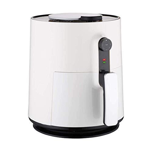 Freidora de aire 3 litros - freidora de aire con control de temperatura y el temporizador - 1500 W - libre de aceite de freír máquina - horno - fácil de limpiar cesta - rojo blanco (color: blanco)