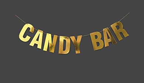 Candy bars - Candy Bar Banner - Candy Buffet Banner - Wedding Reception Banner - Dessert Bar - Wedding Decorations - engagement gifts - Wedding Banner - Gold banner - Wall decor - Party decorations