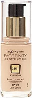 Max Factor Facefinity 3 in 1 Foundation 140, Light Ivory (81377974)