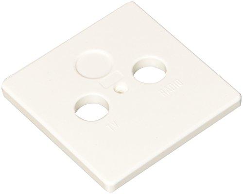 Kopp 348202182 Antennenabdeckung, arktis-weiß, 2-fach Abdeckung